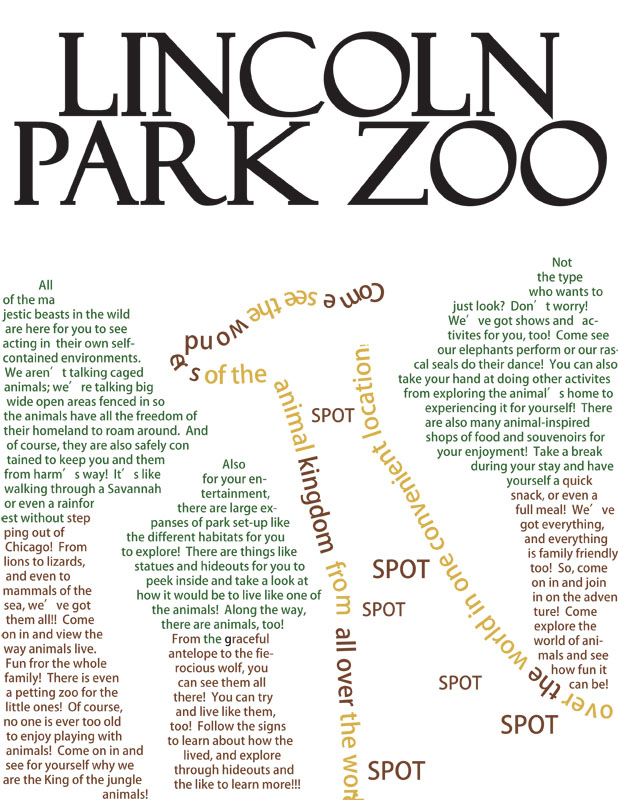 Lincoln Park Zoo Typography