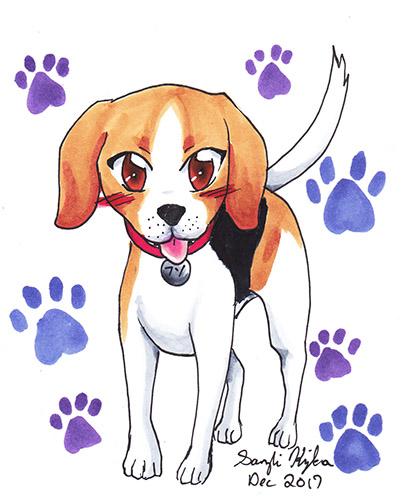 Beagle Chibi